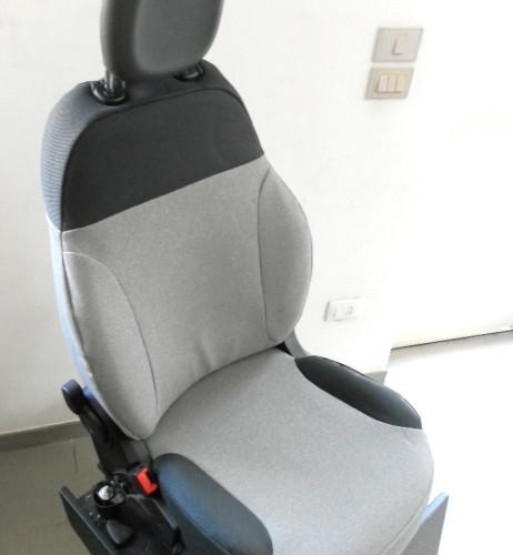 OFFERTA!! FIAT NEW PANDA '12 - coprisedili su misura con tessuti originali FIAT (grigio chiaro+grigio scuro)