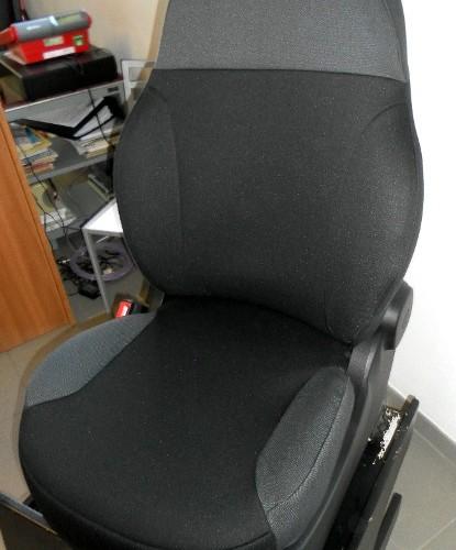 OFFERTA!! FIAT NEW PANDA '12 - coprisedili su misura con tessuti originali FIAT (nero + grigio)