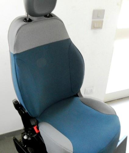 OFFERTA!! FIAT NEW PANDA '12 - coprisedili su misura con tessuti originali FIAT (blu+grigio)