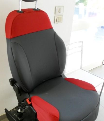 OFFERTA!! FIAT NEW PANDA '12 - coprisedili su misura con tessuti originali FIAT (grigio+rosso)