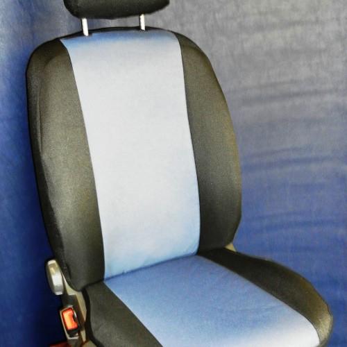 OFFERTA!! FIAT PANDA 169 - coprisedili su misura con tessuti originali FIAT (azzurro + grigio)